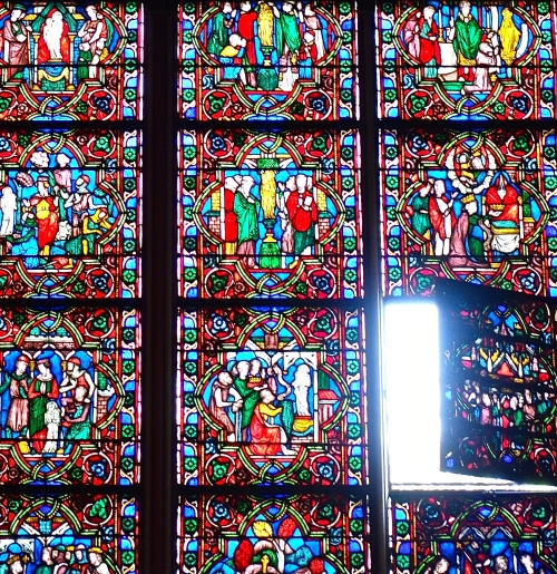 Open window in Notre Dame Cathedral