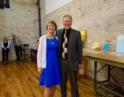 President Bill Paxton and his wife at ArtFeast