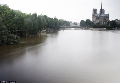 River Seine flooding. Daily Mail Photo