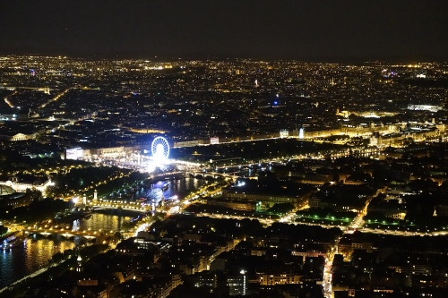 Roue de Paris at Night from Eiffel Tower