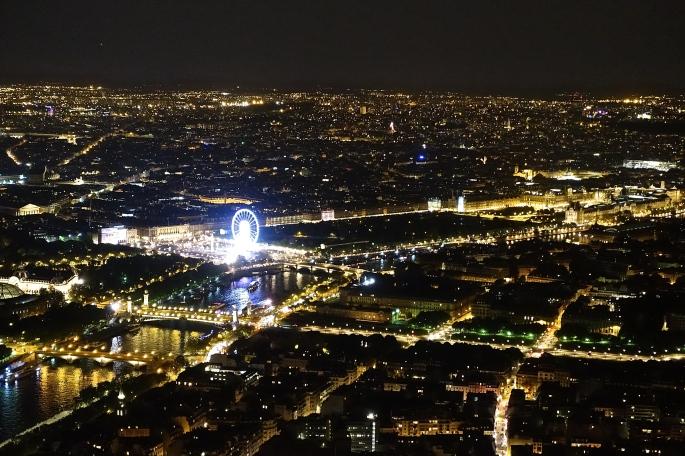 Roue de Paris at Night from Eiffel Tower
