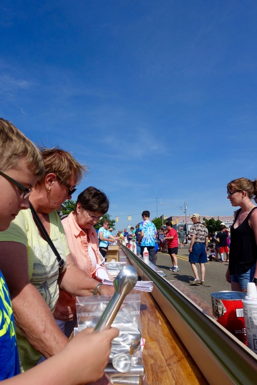 Scoops at Ludington's World's Largest Sundae Attempt