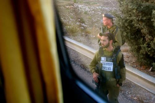 Soldiers boarding bus in Israel