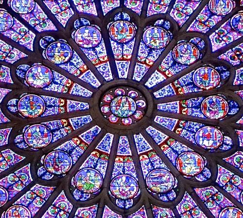 South Rose Window. Notre Dame Paris