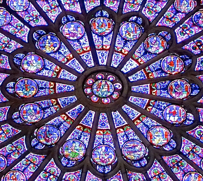 South Rose Window. Notre Dame Paris