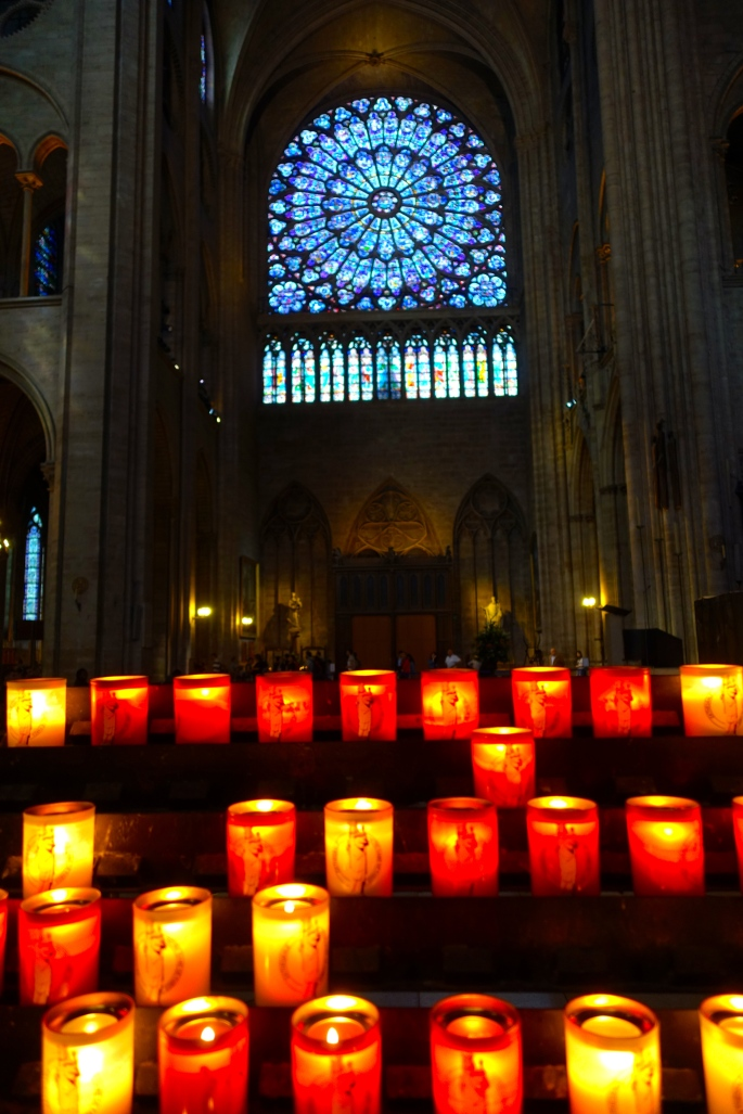 South Rose Windows with Candles burning