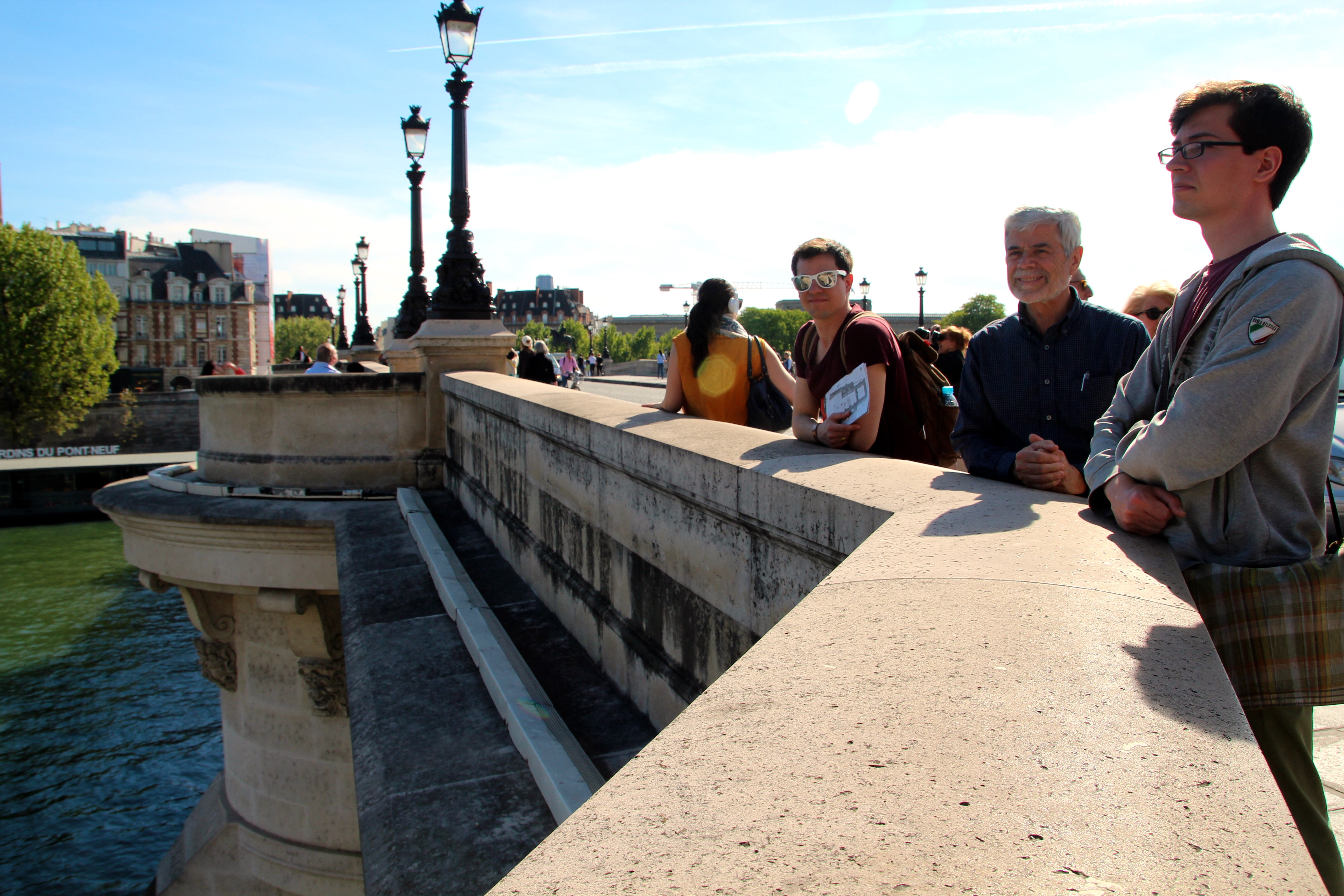 Standing on Bridge overlooking The Seine River