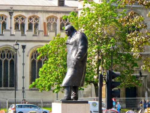 Statue of Winston Churchill. London