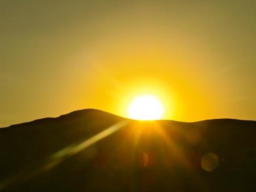 Sun setting over Israel