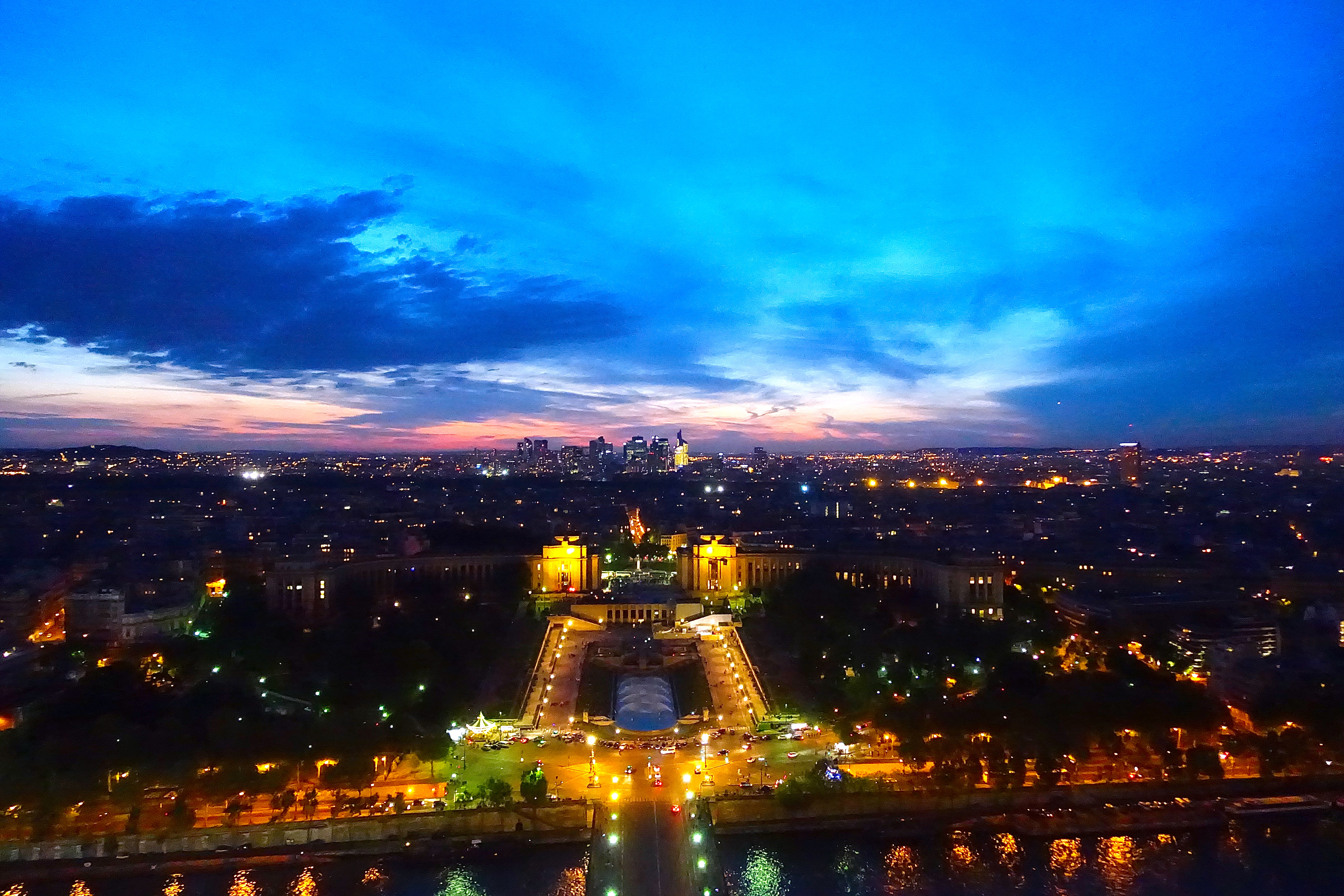 Sunset from Eiffel Tower