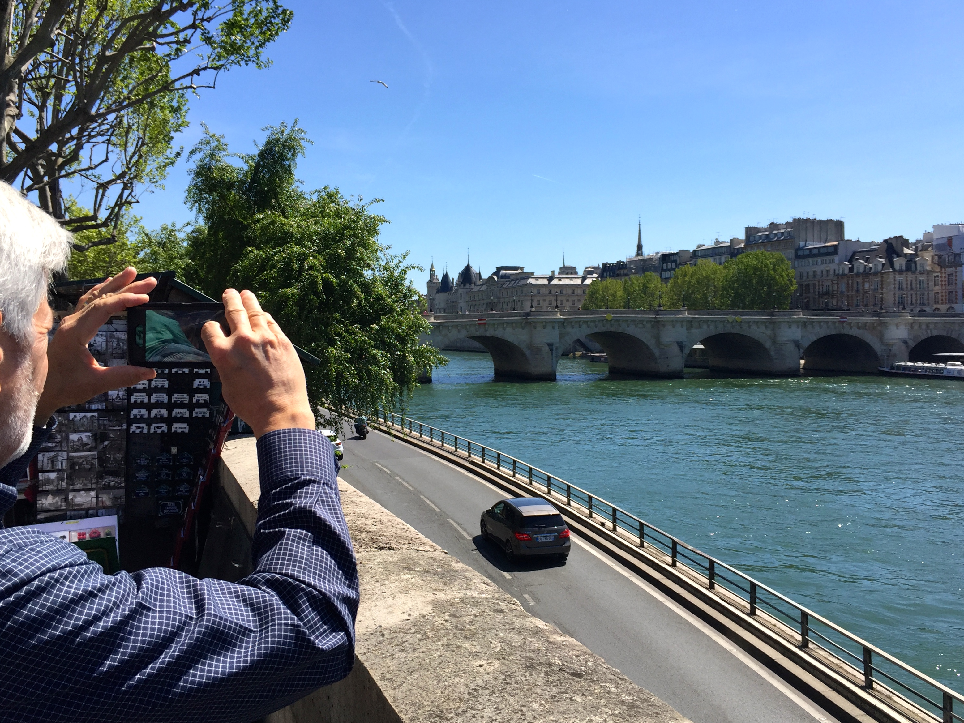 Taking picture of The Seine River