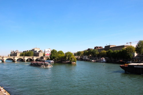 The Seine River is wide