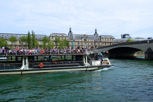 Tour Boat plying The Seine River