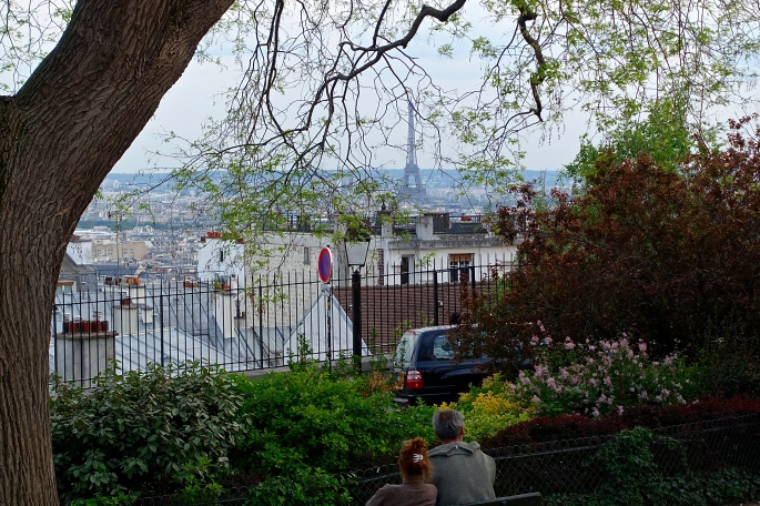 View of Eiffel Tower from Sacre Couer