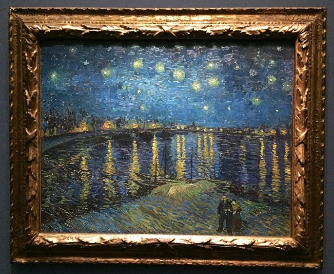 "Vincent Van Gough La Nuit étoilé ""The Starry Night"" 1888"
