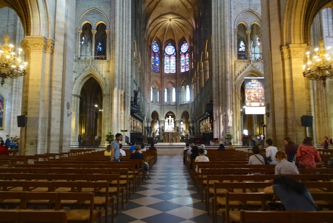 Worshiping in Notre Dame