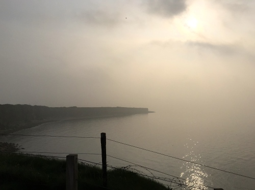 Foggy hush over Normandy Beaches