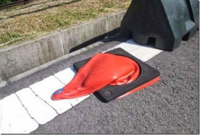 Melted Highway cone