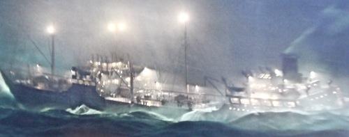 Tanker in storm