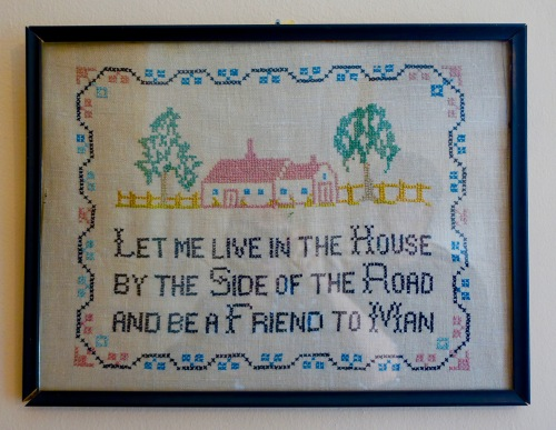 Cross stitch in Grand Traverse Lighthouse