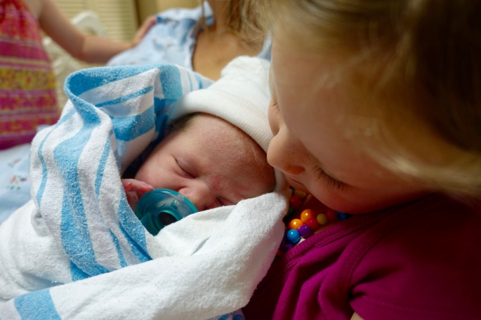 Holding Baby sister