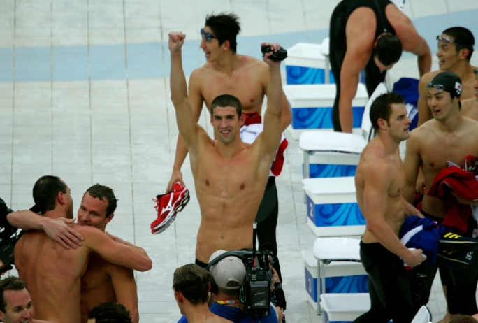 Michael_Phelps_wins_8th_gold_medal by Bryan Allison. Flickr