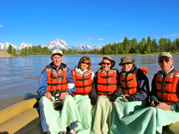 Rafting in the Grand Tetons