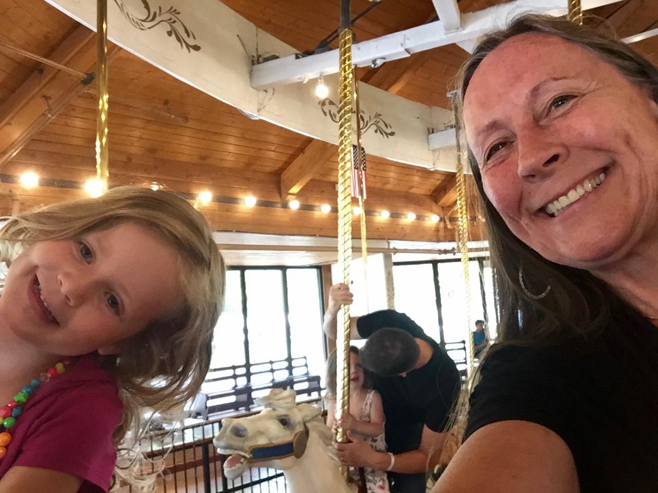 Riding the Merry-Go-Round in Spokane WA