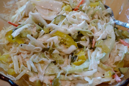 cold-slaw-with-pickles-and-pickled-peppers