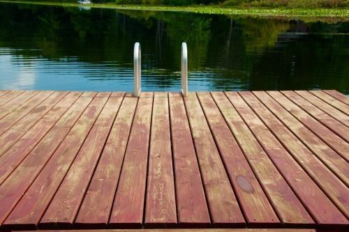 Dock for swimming in lake