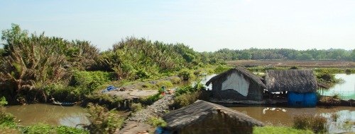 Hovels in rural Asia