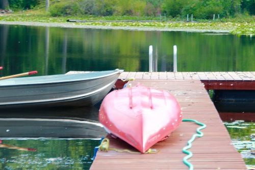 Kayak on dock