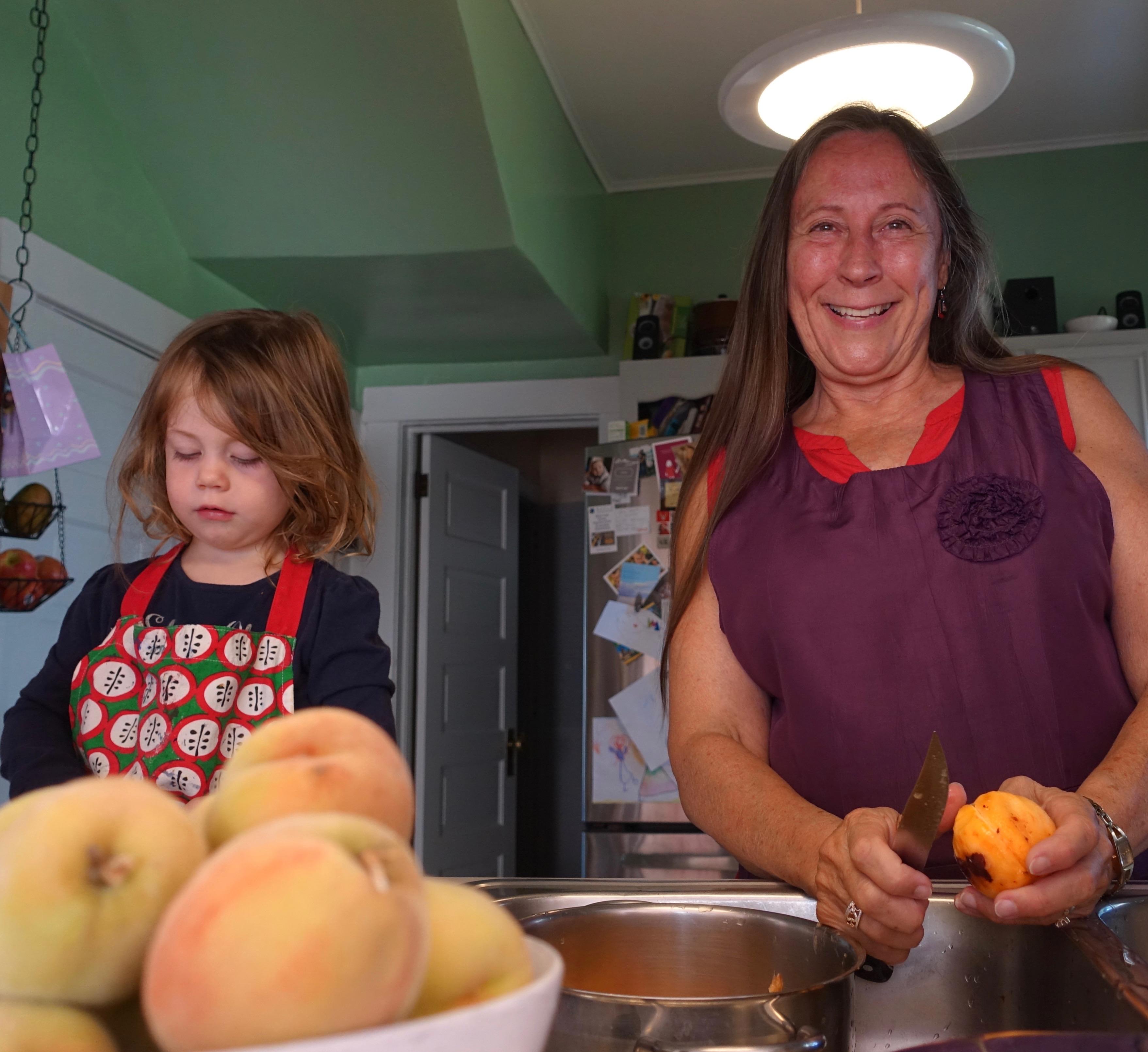 Making pies with Grandma