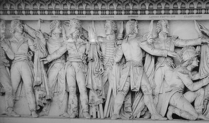 relief-of-courageous-generals-at-the-arc-de-triomphe-paris