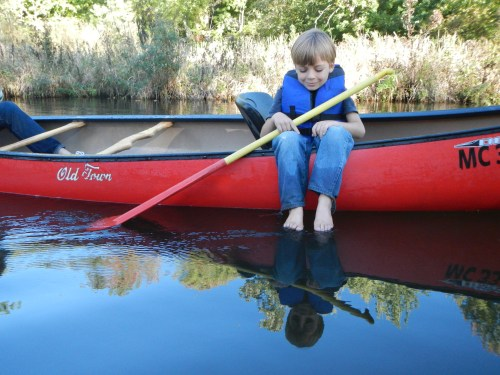 little-boy-in-canoe