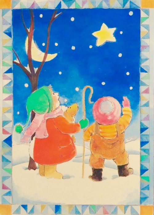 christmas-card-children-looking-at-moon