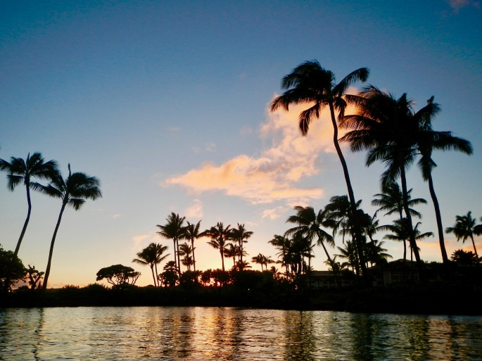 sunset-over-grand-hyatt-kauai-seawater-lagoon