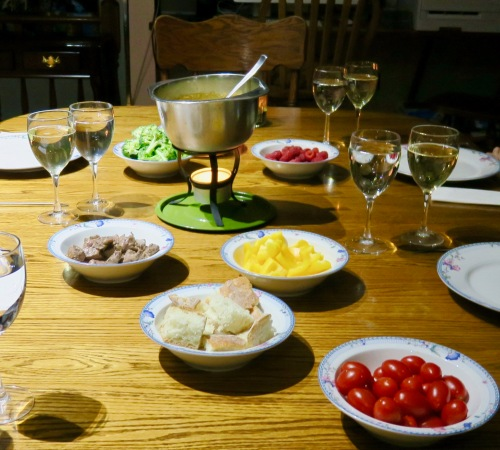 table-set-for-cheese-fondue