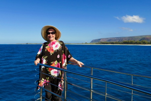 kathi-on-south-coast-of-kauai-blue-dolphin-boat-tours