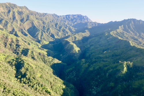 rugged-valleys-in-kauai-helicopter-tour