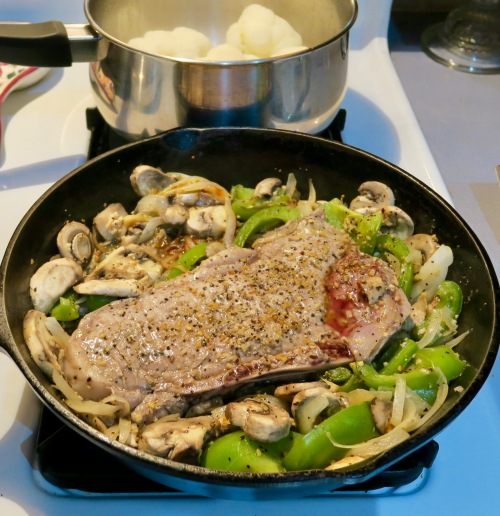 frying-steak-and-veggies